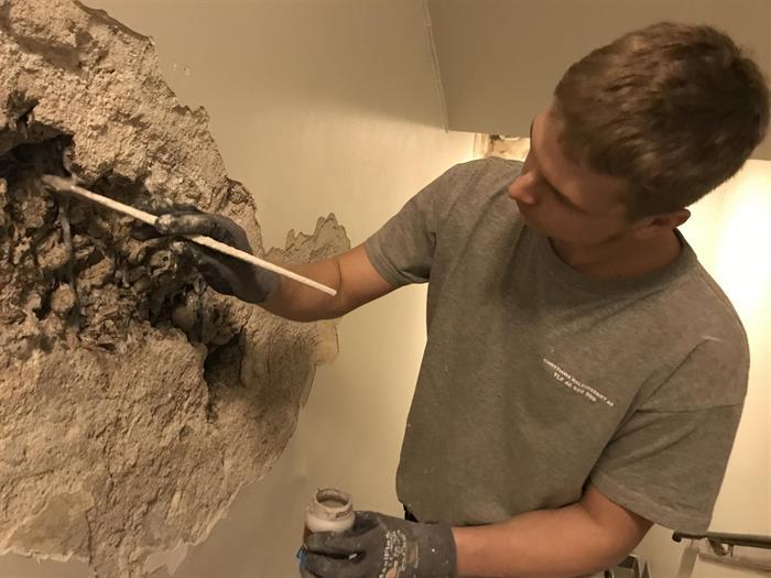 Reparasjoner av eldre grunnmur