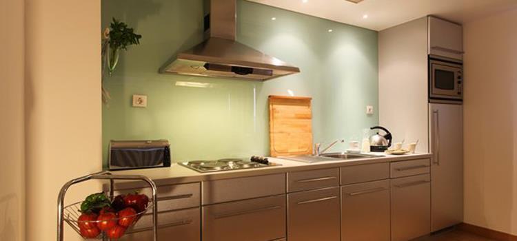 Exempel på kök i lägenhet för 2 pers.