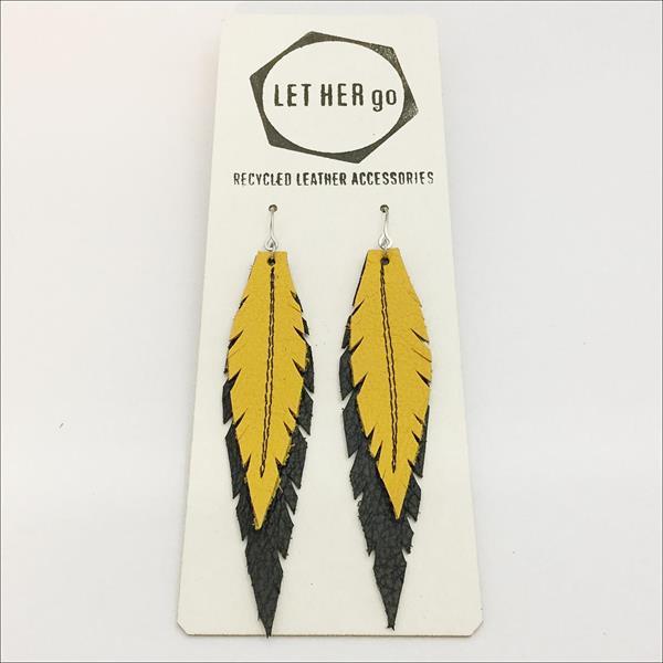 FENSI- Korvakorut, musta/keltainen
