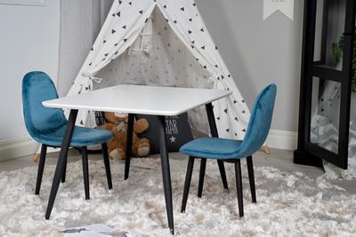 Polar stol XXS blå sammet