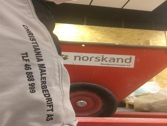 Vi er i Fredrikstad for kjedekunde og utfører malerentreprisen på oppdraget - Okt 2016