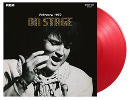 PRESLEY ELVIS: ON STAGE --RED COLOURED LP
