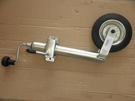Nokkapyörä kiinnikkeellä 200x50 48mm putkeen Winterhoff