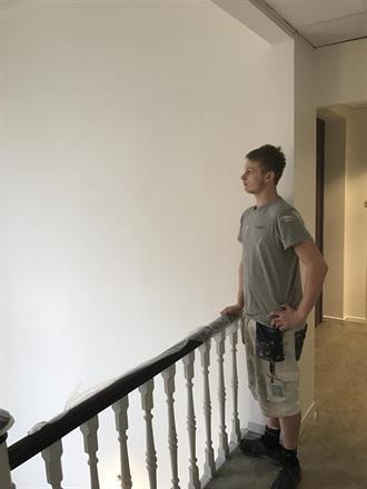 Ferdige flater i øvre etasje