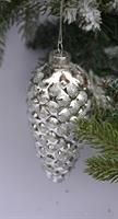 Julekule kongle sølv