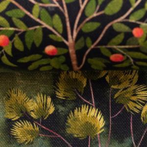 Tiffi linen like, trees landscape