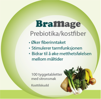 BraMage Prebiotika/kostfiber inneholder flere typer av prebiotika