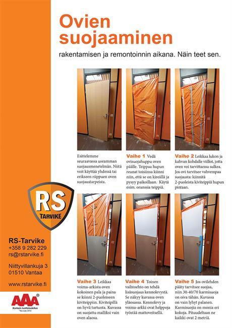 Ovien suojaaminen rakentamisen ja remontoinnin aikana