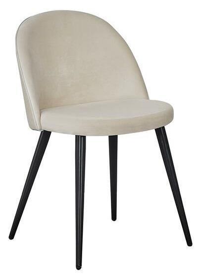 Velvet matstol beige/svart