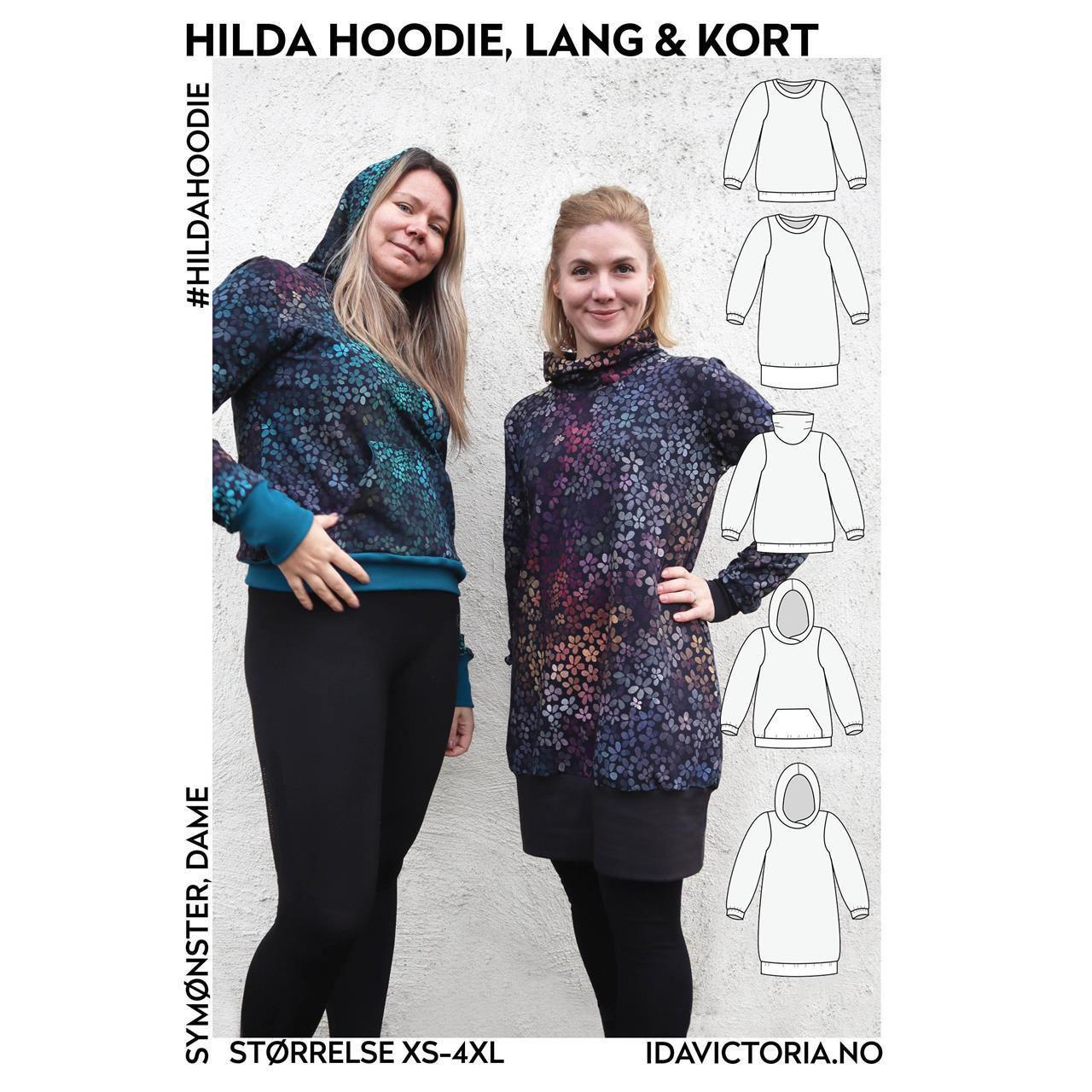 Hilda Hoodie, lang og kort
