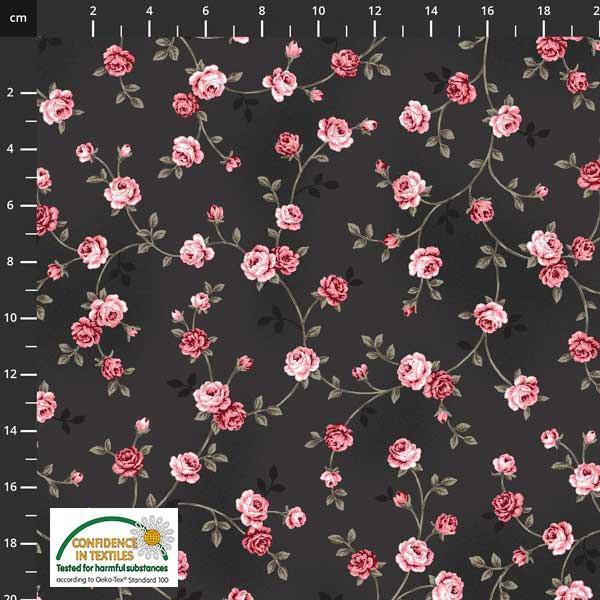Isoli Ella blomster svart 17-196