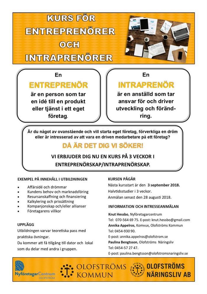Utbildning för Entreprenörer och Intraprenörer