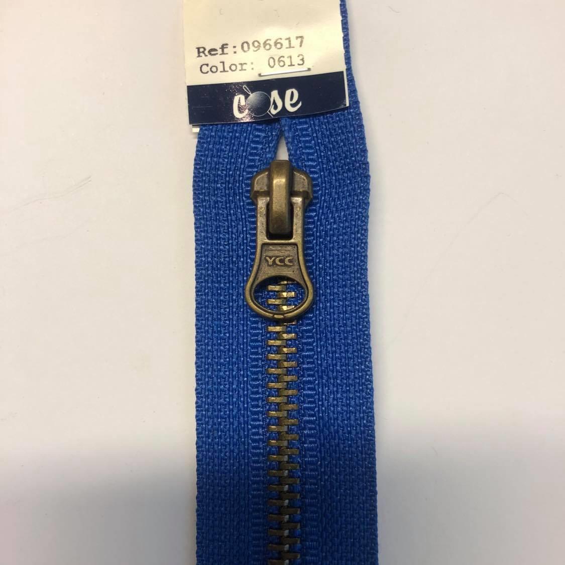 Delbar glidlås 50 cm blå 96617