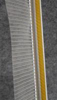 Ikkunalista PVC 9mm, tiiviste+ verkko 120mm - 2400mm / 30kpl/ltk