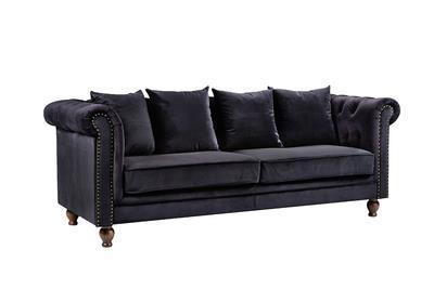 Velvet 3-sitssoffa svart