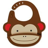 Ruokalappu silikoninen Apina 4p