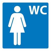 Plastskilt Dame toalett