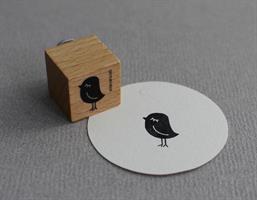 Stempel Medium Fugl Dame liten