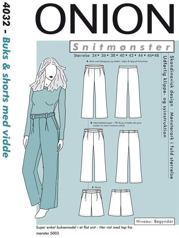 ONION 4032 - Bukse og shorts med vidde