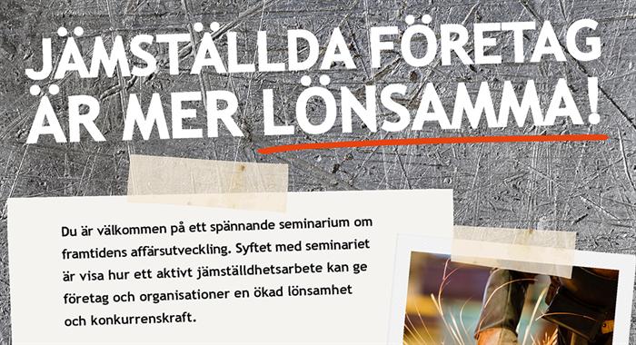 Seminarium: Jämställda företag är mer lönsamma!