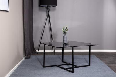 Hybrid soffbord rökgrå glas
