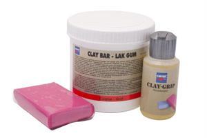 Puhdistussavi, punainen - Claybar Coarse/Red (with clay grip)