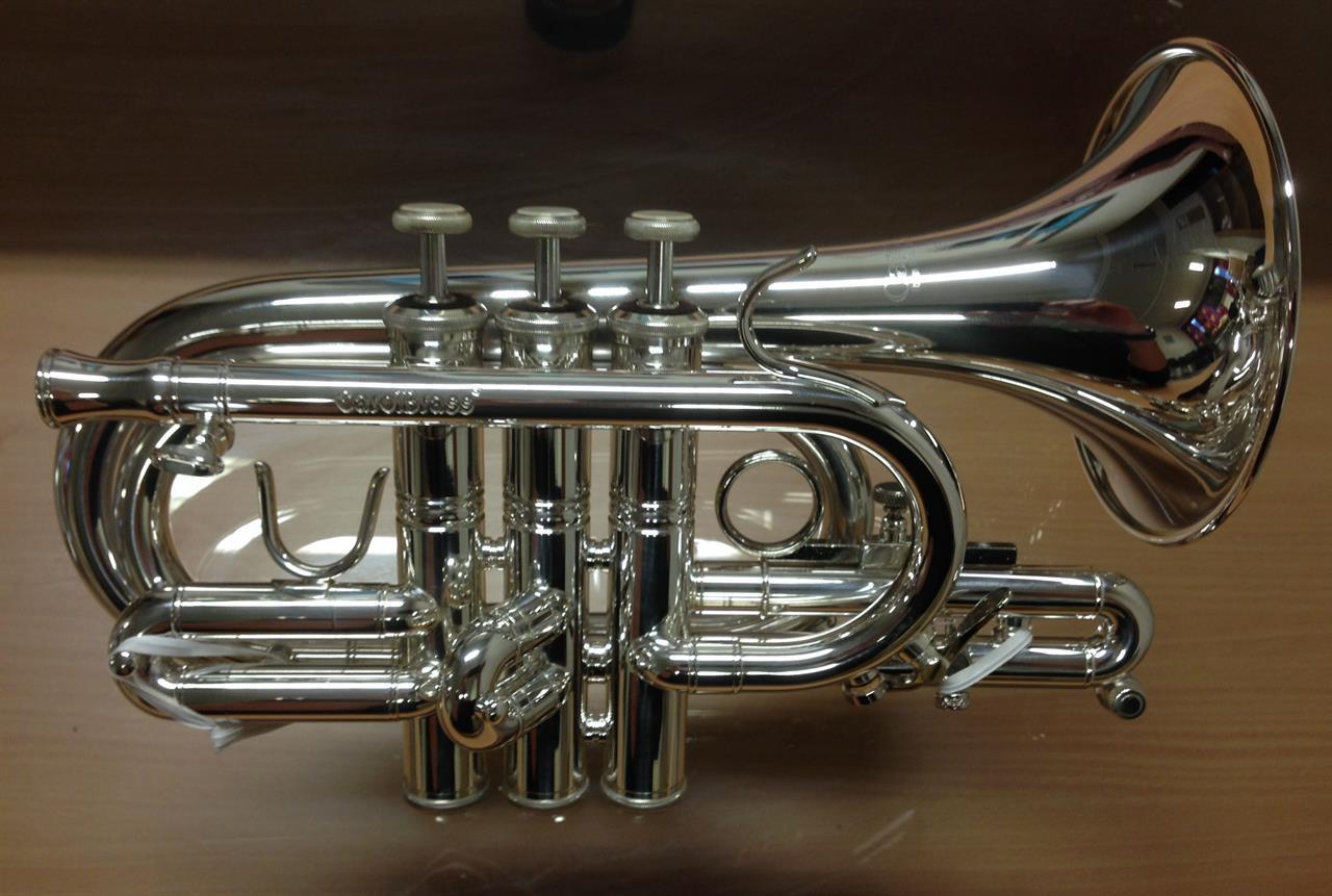 Pocket trompet C CPT-4000-YLS-C sølv-gig bag
