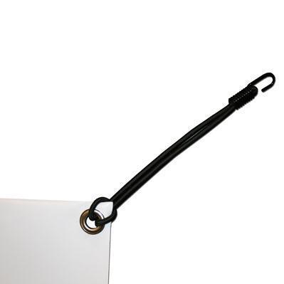 4 stk Elastline med krok 25cm
