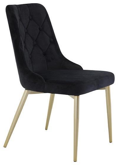 Velvet Lyx matstol svart