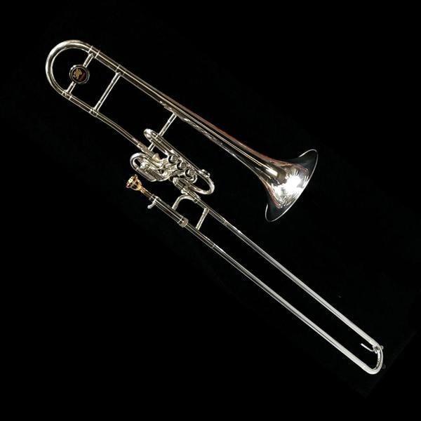 Superbone (valve/slide trombone) forsølvet