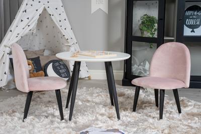 Velvet stol XXS rosa sammet