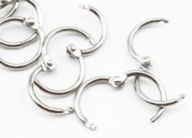 Columbus-ringer 15mm Sølv 2pk
