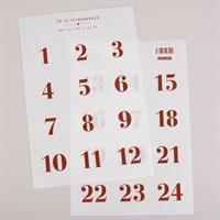 Klistremerker 1-24 · Transparent/Rød