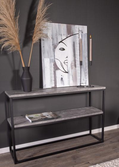 Rise avlastningsbord betong-look/svart