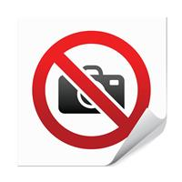 Fotografering forbudt - 10x10cm