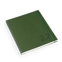Kalender Olivengrønn 170x200 Vev Wire-o - 2022