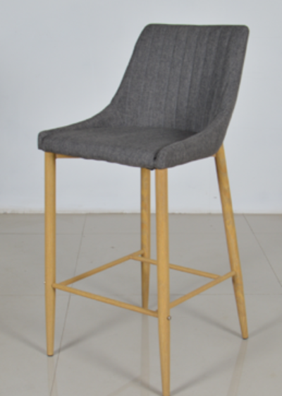 Plaza barstol grå/ek-look