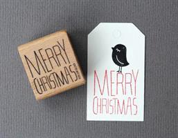Stempel Large Merry Christmas Stående