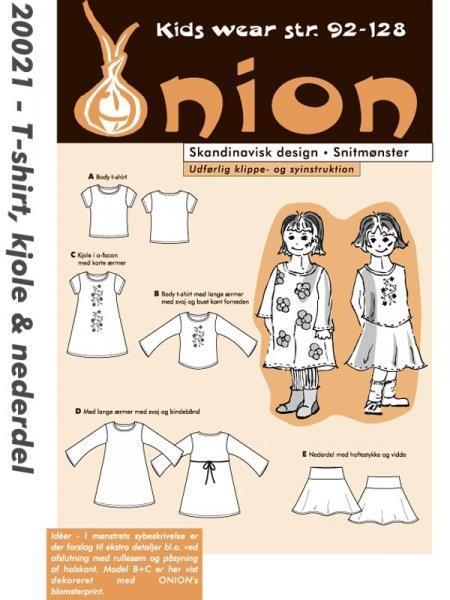 ONION: 20021 - t-shirt, kjole og nederdel.