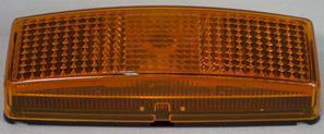 Sivuvalo keltainen 110x40x25 pinta-asennettava