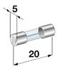 Sulake 5x20mm 6,3A nopea, 217. Trumatic