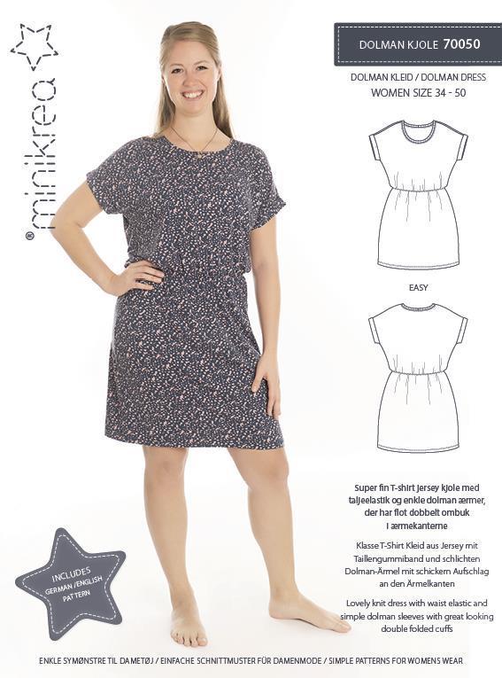 Dolman kjole 70050