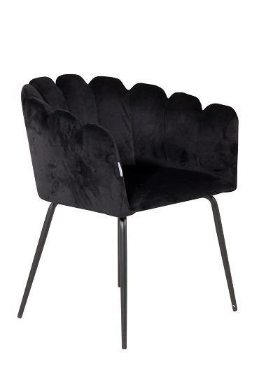 Limhamn stol svart sammet