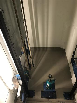 Grubene er klare for bruk, nå er sikkerheten komplett for heissystemet