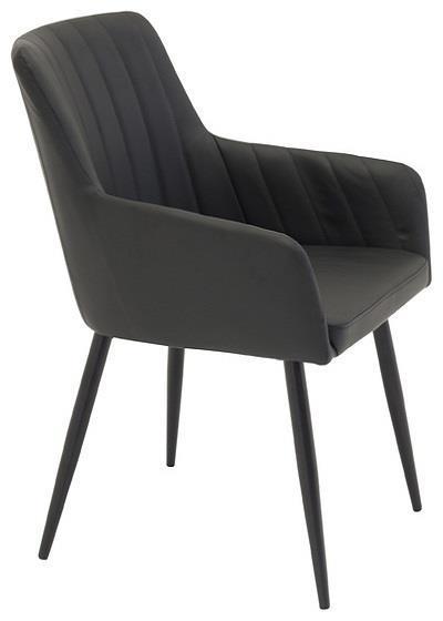 Comfort karmstol PU/svart