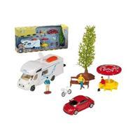 Lelu matkailuauto ja 9-osainen setti