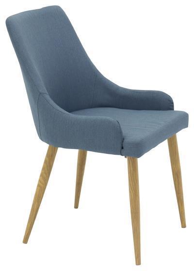 Plaza matstol   blå/ek-look