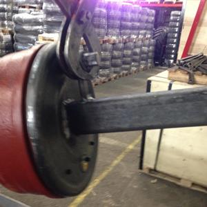 Bromsad axeltapp 80x80mm 4 ton Art.nr: 617952