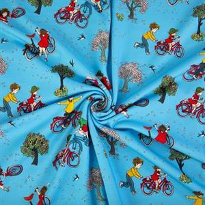 Jersey Lottas bike blue