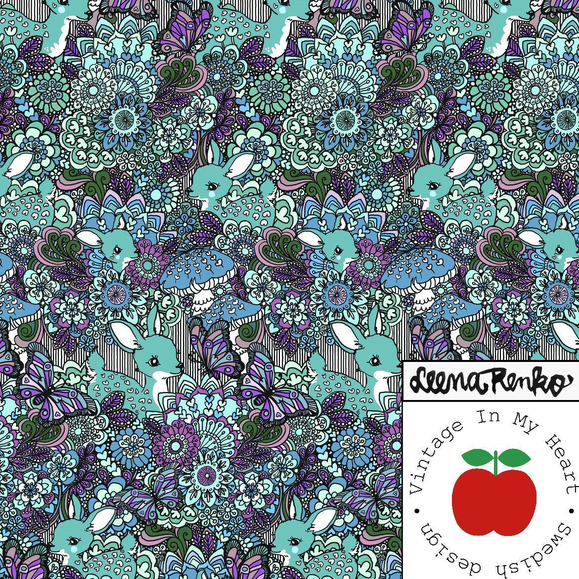 Deer Dreamland Turquoise - Jersey